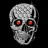 Diamond Skull With Red Eyes