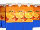 picture of orange-juice  - packs made of cardboard for orange juice - JPG