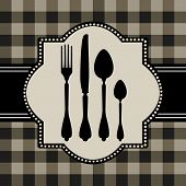 Menu card design with cutlery