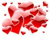 stock photo of valentines day card  - a lot of red hearts for valentines day - JPG