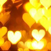 Bewegung, die farbigen Herzen