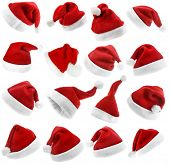 The Collection Red Christmas Santa Claus Hat isolated on white background