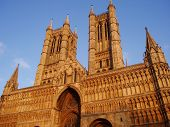 picture of protist  - A view of Lincoln Cathedral on top of the hill - JPG