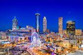 Atlanta, Georgia, USA downtown city skyline. poster