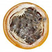 granadilla fruit isolated on white background