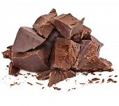 stock photo of crack addiction  - Chocolate pieces - JPG