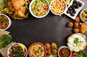 assorted lebanese food poster