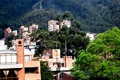 image of spank  - Bogota Colombia - view panorama of city ** Note: Slight blurriness, best at smaller sizes - JPG