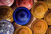 Ornate Traditional Moroccan Painted Plates
