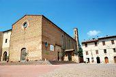 Square in San Gimignano, Italy