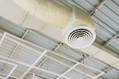 Building Interior Air Duct, Air Condition Pipe Line System Air Flow Industrial Design. poster