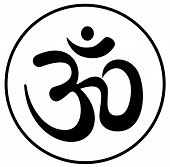 stock photo of sanscrit  - Om aum a symbol bearing the blessing - JPG