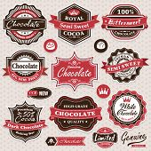 image of bittersweet  - Collection of vintage retro Chocolate labels - JPG