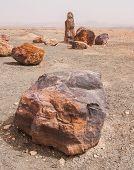 Stones In The Crater Mizpe Ramon - Negev Desert