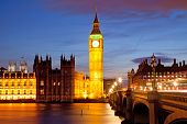 Big Ben and House of Parliament at River Thames International Landmark of London England United King