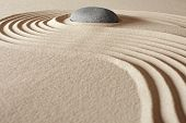 zen buddhism meditation and relaxation japanese garden concept for balance harmony and purity pebble and sand in pattern