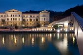 Deusto University And Pedro Arrupe Footbridge