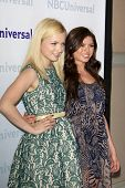 PASADENA - APR 18:  Francesca Eastwood, Morgan Eastwood arrives at the NBCUniversal Summer Press Day