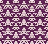Triangles Geometric Seamless Pattern. Vector Texture In Purple And Pink Color. Elegant Minimal Graph poster