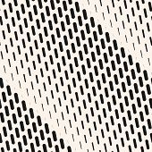 Vector Geometric Halftone Seamless Pattern With Vertical Dash Lines, Fading Stripes. Diagonal Gradie poster