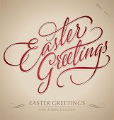 'easter greetings' Hand Schrift (Vektor)