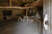 Reconstructed Living And Sleeping Room In The Viking Village Hedeby On The Inlet Schlei Of The Balti poster