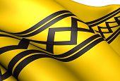 stock photo of west midlands  - Flag of West Midlands England - JPG