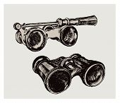 binoculars. vintage image