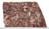 Meat meal with different parts head cheese brawn meal appetizer poster