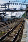 Railway Pointwork, Railway Tracks, High-speed Rail, Transport poster
