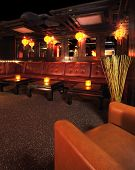 picture of night-club  - High end night club with leather seating