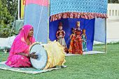 Rajasthan India Travelling Troupe Puppetiers