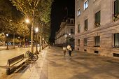 Warm Spring Night In Central Paris poster