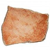Arizona Anasazi pottery shard, ancient Native American Indian artifact, a large bowl fragment, isola