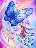 Butterfly and girl