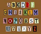 Vector Illustration Of Grunge Alphabet