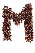 M - Alphabet From Coffee Beans
