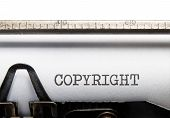 picture of plagiarism  - Copyright title typed on a vintage typewriter - JPG