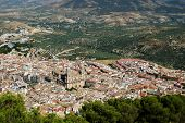 Cathedral and city view, Jaen, Andalusia, Spain.