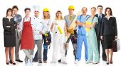 stock photo of electrician  - Group of workers people - JPG