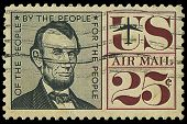 Usa - Circa 1950S: A Stamp Printed In Usa Shows Abraham Lincoln, Circa 1950S