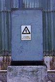 High voltage cabinet gray.