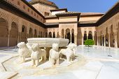Famous Lion Fountain, Alhambra Castle (granada, Spain)