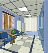 hall in the clinic