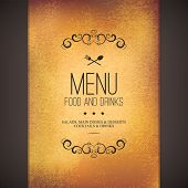 stock photo of monogram  - Restaurant menu design - JPG