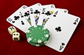 stock photo of flush  - Playing cards  - JPG