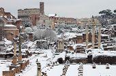 The Roman Forum under snow