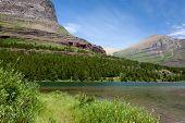 Rocky Mountain By Lake
