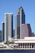 Modern Skyscrapers N City Of Tampa, Usa, Fl