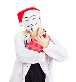 picture of guy fawks  - Medical doctor with a guy fawkes mask - JPG